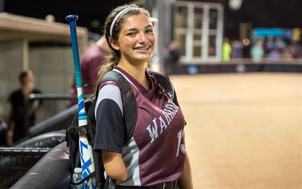 SCW softball player overcomes adversity to excel on field